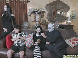 The Addams Family's out of the public eye orgy