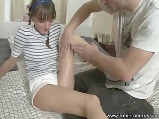 Russian Teen Explores Anal