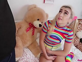 Pigtails and Rainbows - Diminutive Teen Fuck