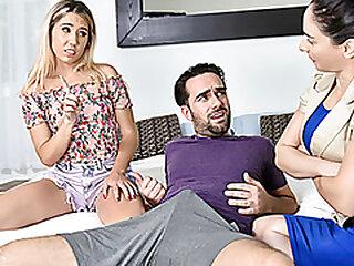 FamilyStrokes - Big Dick Stepbro Cums On His Cute Stepsister