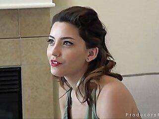 Beautiful young Zara Brook bangs Mr. Producer