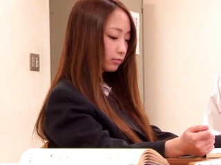 Japanese tractable legal age teenager anal fingerfucked