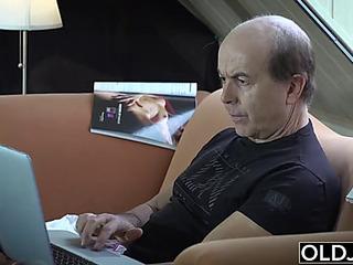 Grandad caught masturbating by my step daughter and fuck him
