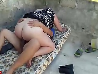 Fucked by the ass in the old mattress. SAN049