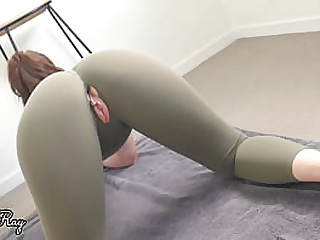 He Fucks Me Good In My Ripped Gym Pants - Creampie and Best ass