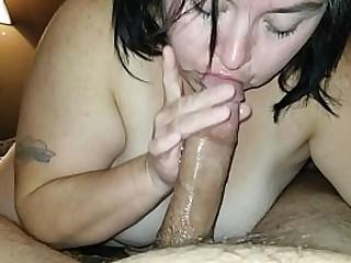 BBW Wife sucks the best dick